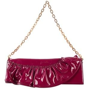 Valentino patent leather convertible clutch